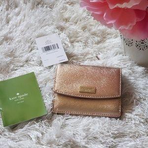 Kate Spade Metallic Rose Gold Wallet
